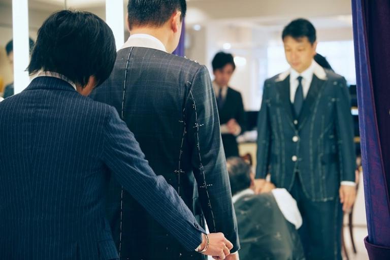 岡田光信氏仮縫い